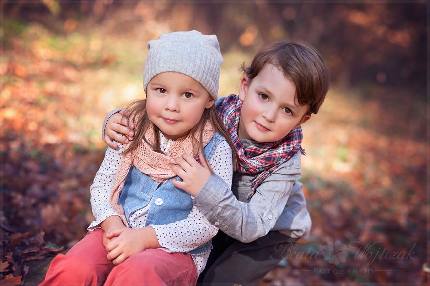dziecieca sesja jesienna w plenerze Krakow