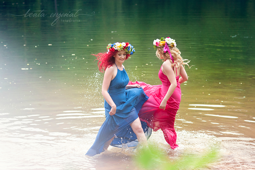 bajkowa sesja nad jeziorem, sesja kobieca Krakow