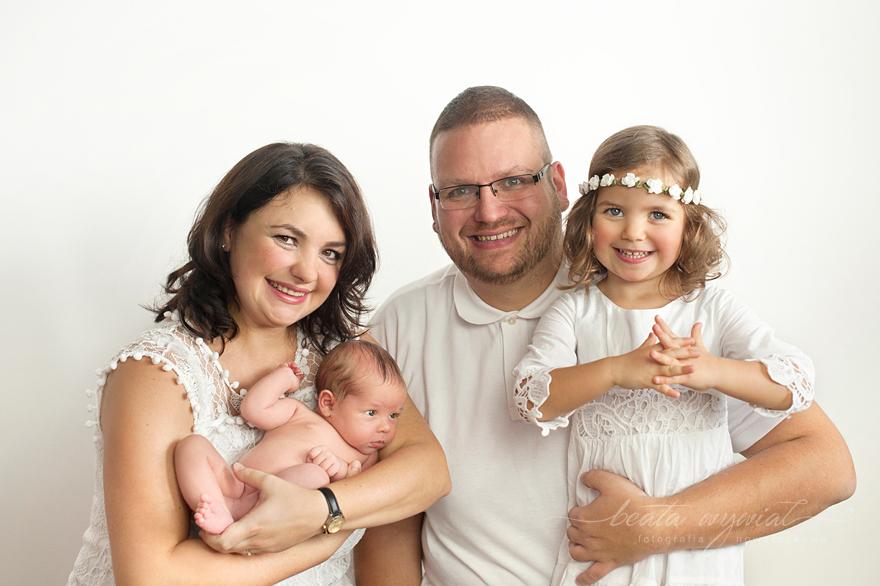 sesja rodzinna z noworodkiem Krakow
