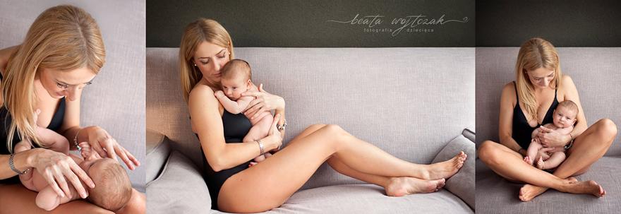 sesja mamy i corki, zdjecia niemowlat, sesja niemowleca Krakow